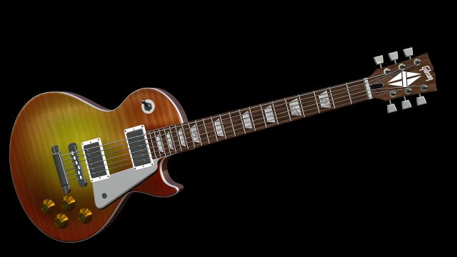 Les Paul guitar 3D Model and generator for Final Cut Pro X