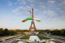 Eiffel tower by VideoBlocks. Martian War Machine by FX Mahoney