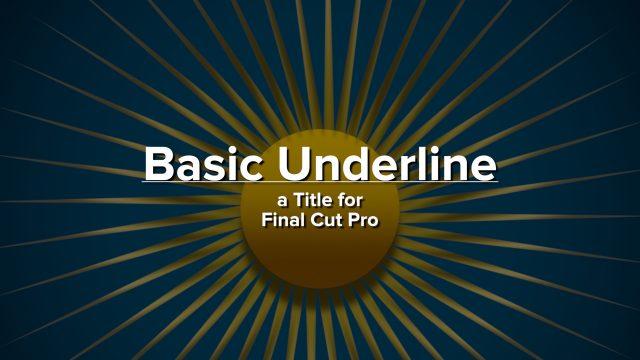 Basic Underline Title