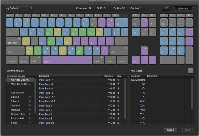 FCPX Commands - Play Rate