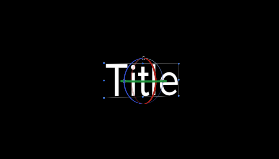 Use 3D Titles for the 3D orientation onscreen control