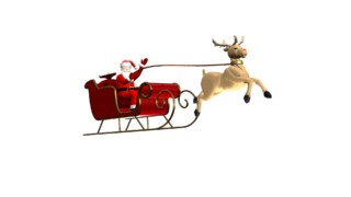 Santa and Rudolph clip - still