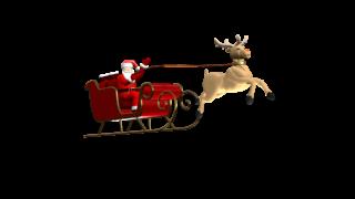 Santa and Rudolph clip - still