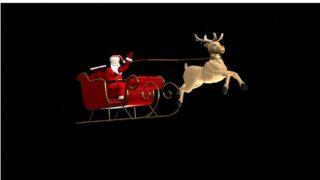 Santa and Rudolph 3D