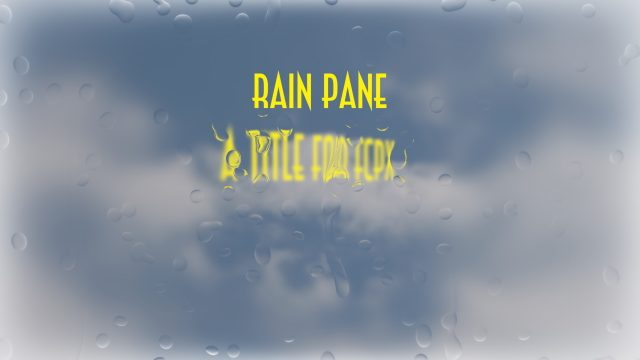 raindrops on glass title effect