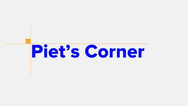 Piet's Corner Title