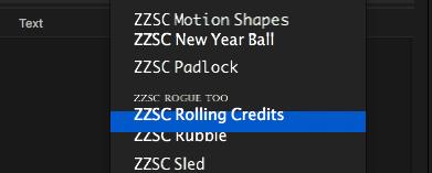Rolling Credits II User Guide 5