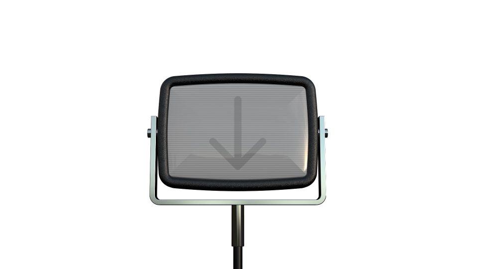 Hinged CRT - LiveType TV LiveFont Revisited