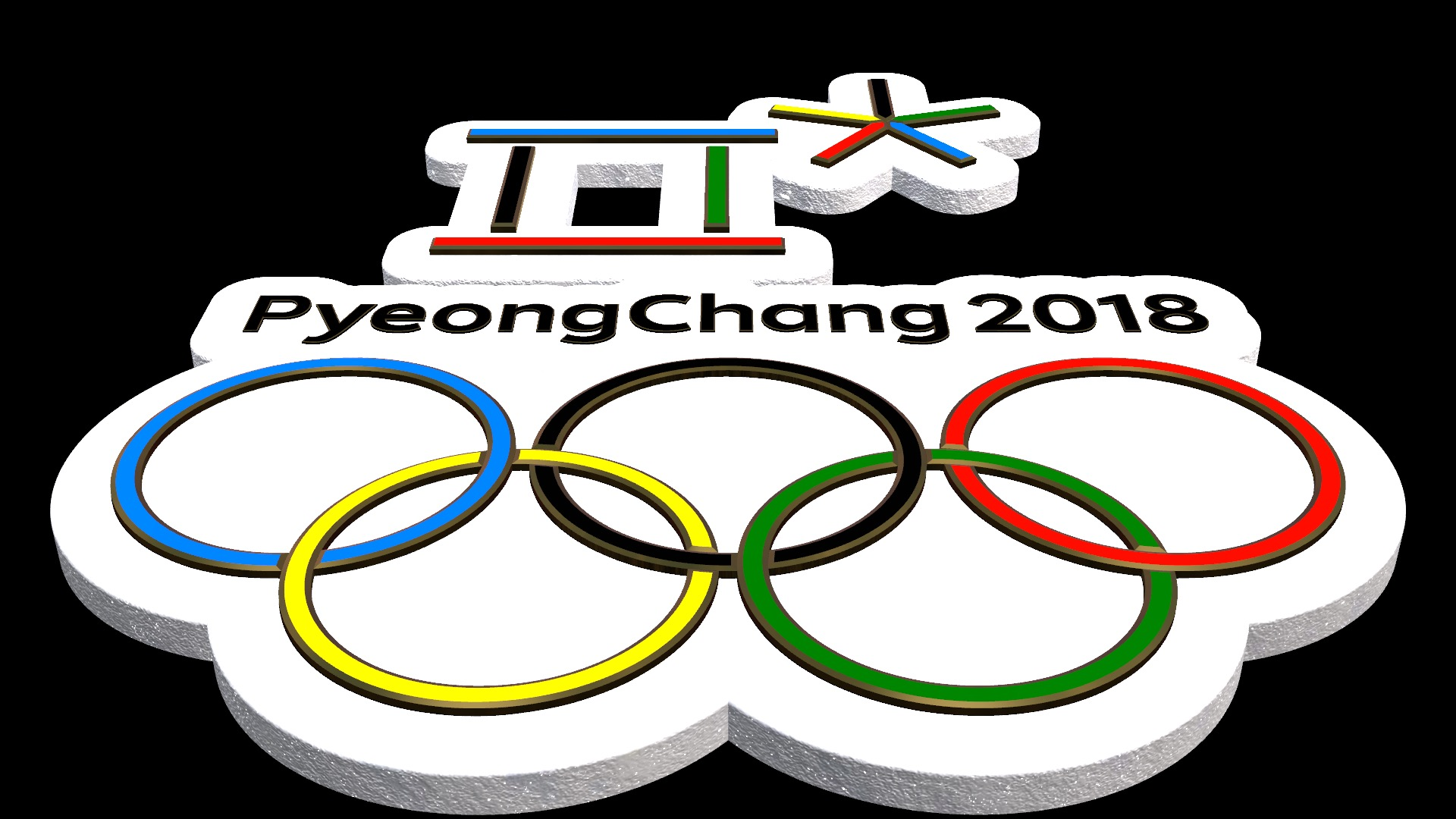 Olympic Rings Font - fonts for 3D