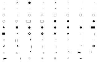 Space Shapes Font Characters