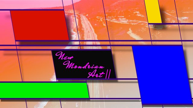 Mondrian Art Title Template for FCPX