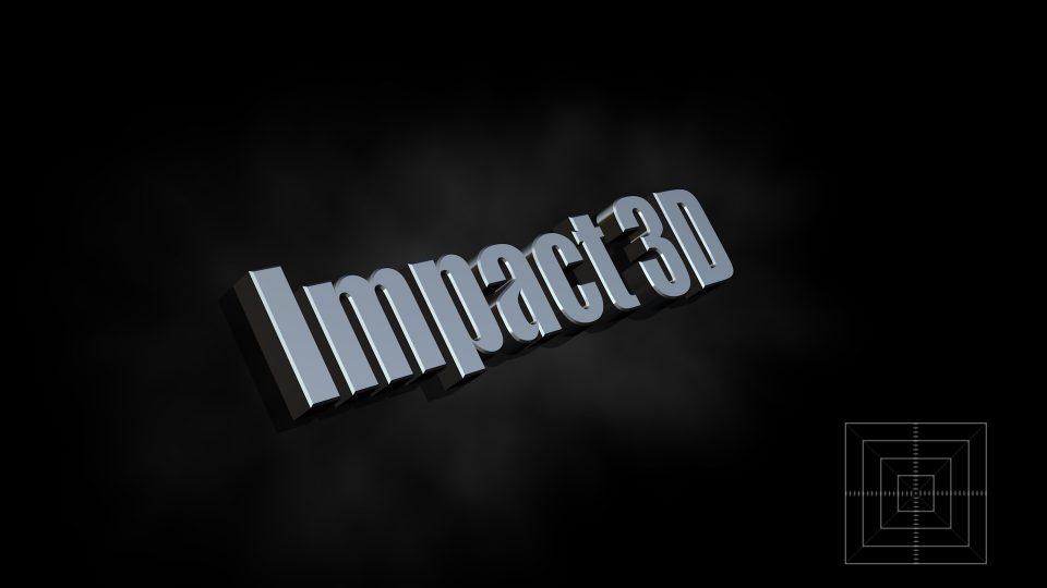 Impact 3D OSC title for final cut pro x