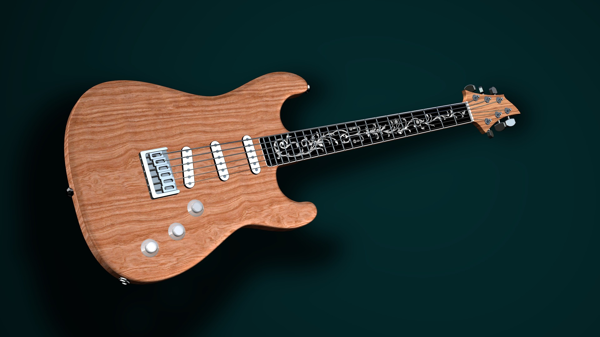 Solid body guitar 3D model