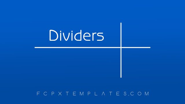 Dividers Generator for FCPX