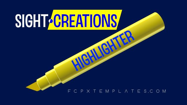 Highlighter 2 Effects bundle for FCPX