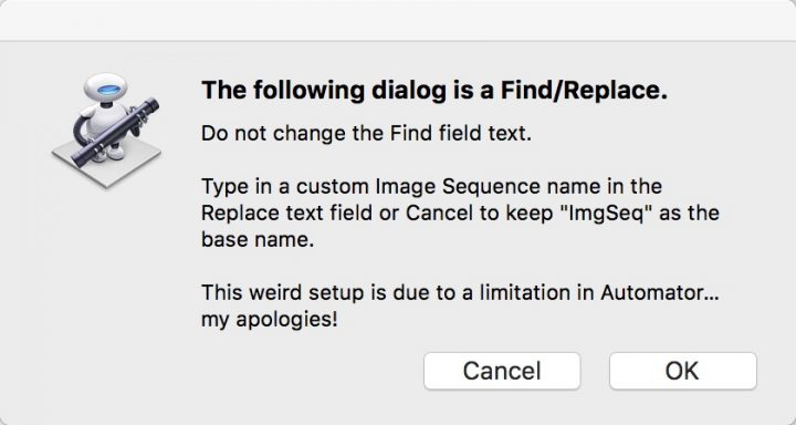 Create Image Sequence Dialog 1