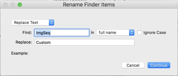 Create Image Sequence dialog 2
