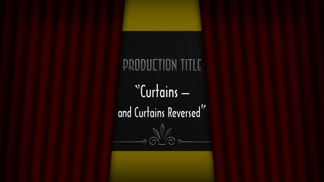 Curtains generator template for FCPX