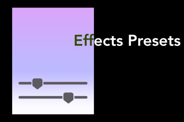Using FCPXTemplates Effects Presets