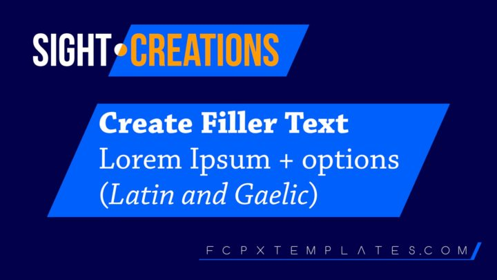 Create Filler Text - Lorem Ipsum filler text online tool