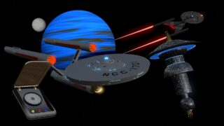 Star Trek fandom 3D models for FCPX: Space Shapes Font