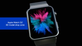 Apple Watch DZ 3D Model generator template for FCPX