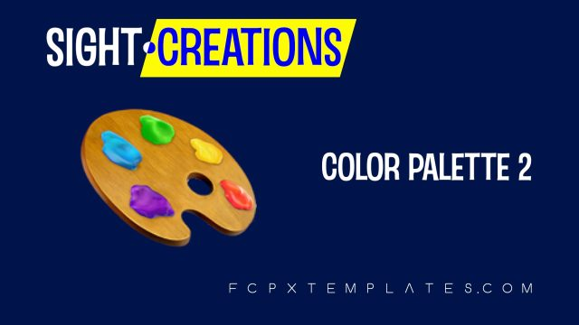 Color Palette 2 Effect template for FCPX