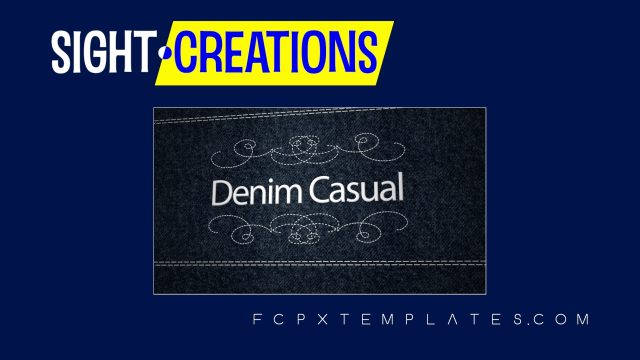 Denim Casual Opener and Lower Third Title templates for FCPX