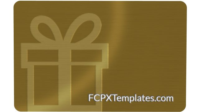 Gift Card feature image for the Gift Card Product at FCPXTemplates.com