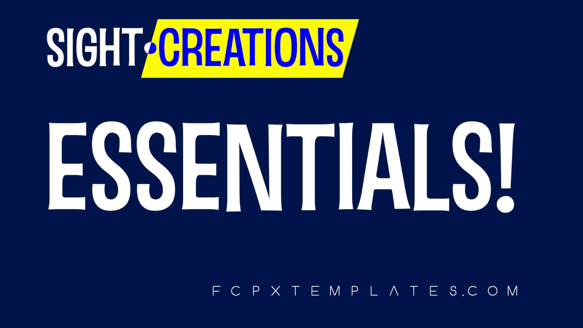 Sight-Creations Essentials Effects Bundle for FCPX
