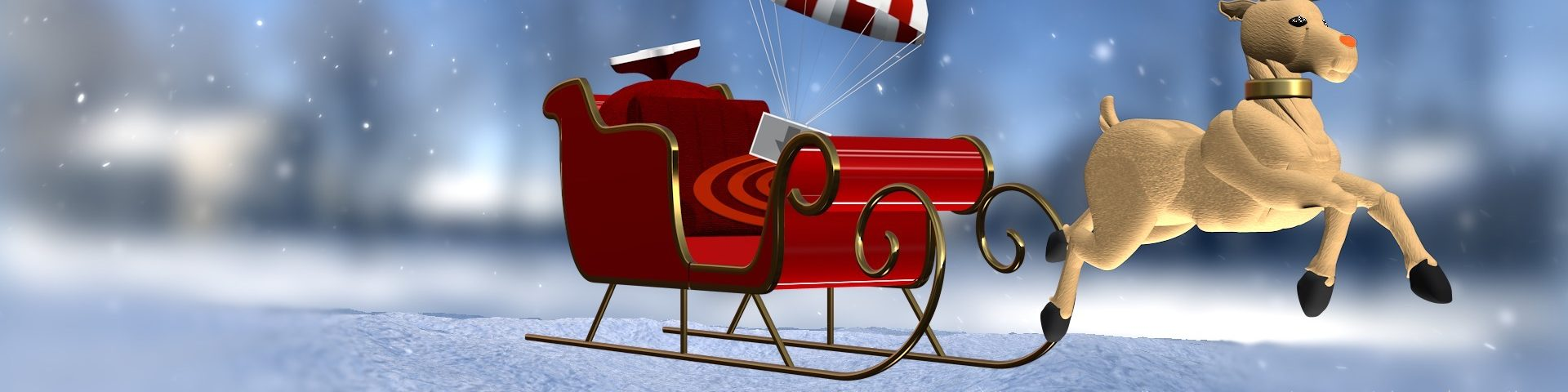 Santa's Sleigh and Rudolph