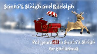 Santa's Sleigh and Rudolph Generator / 3D Model for FCPX