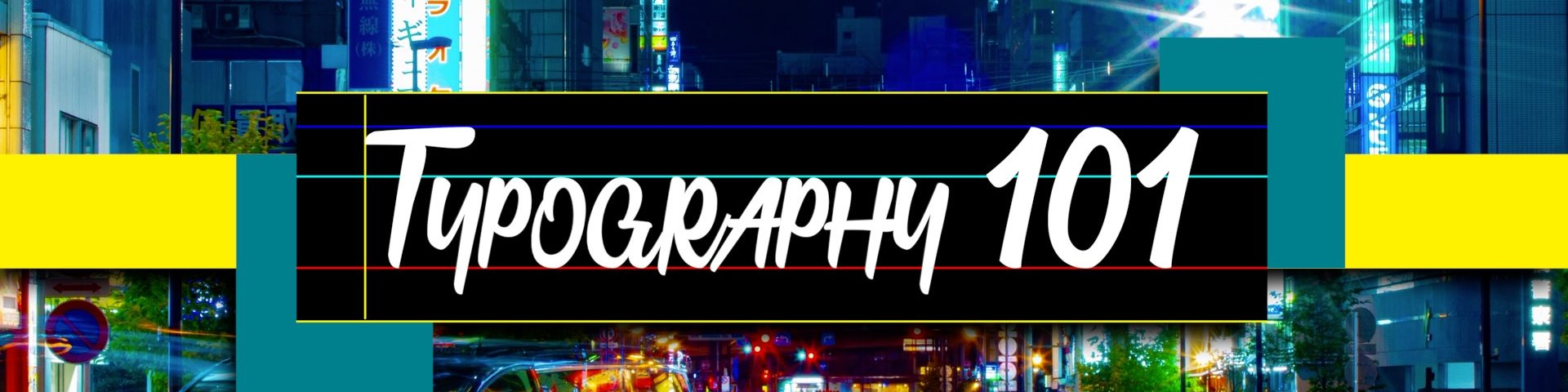 Typography 101 title for FCPX