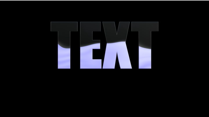 Liquid Fill Text Animated Texture
