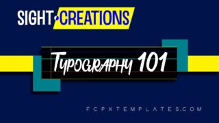 Typography 101 title template for FCPX