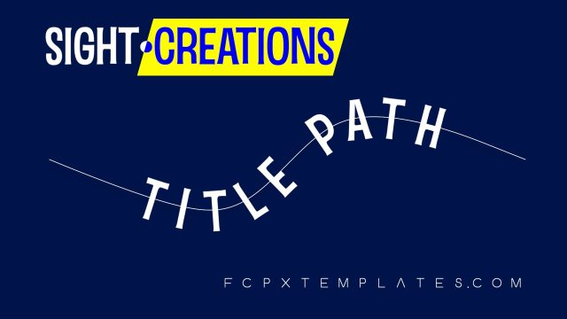 Title Path - Text on Path title for FCPX