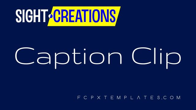 Caption Clip - Effect for FCPX