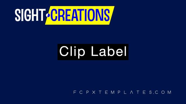 Clip Label plugin for fcpx - quick and easy identification labels