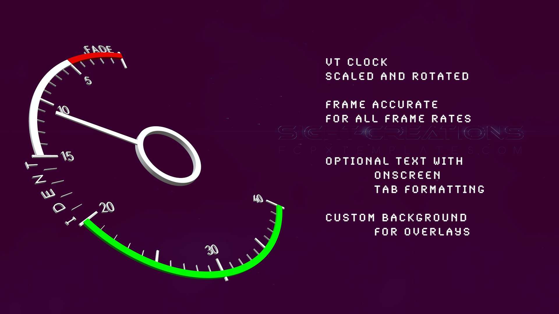 Broadcast VT Clock in 3D - Frame Accurate