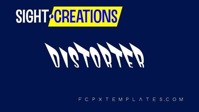 Distorter title for FCPX