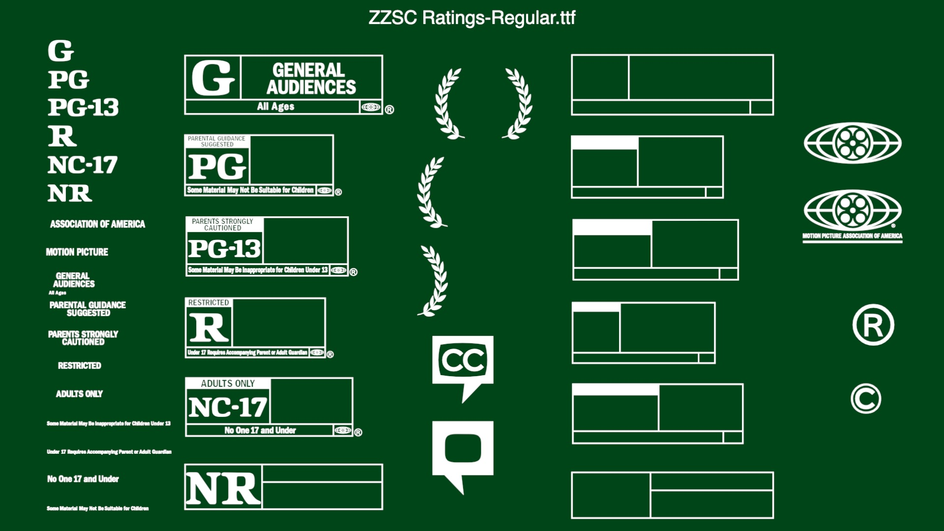 ZZSCRatings-Regular font