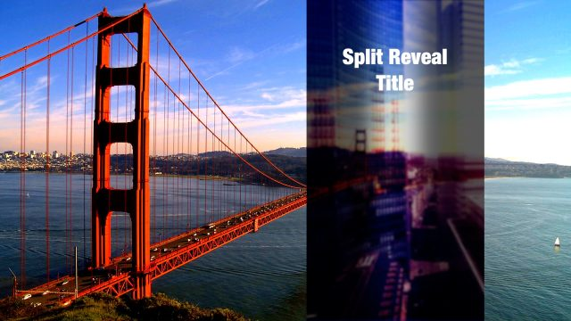 Split Reveal Title for Final Cut Pro X