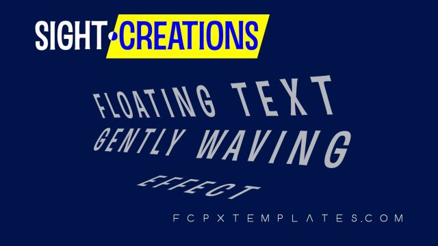 Floating Text Title for Final Cut Pro X