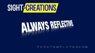 Always Reflective title effect kit for fcpx