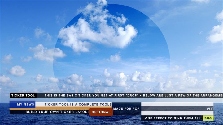 Ticker Tool Plus effect for FCP