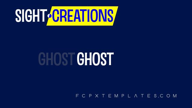 Ghost Effect for Final Cut Pro