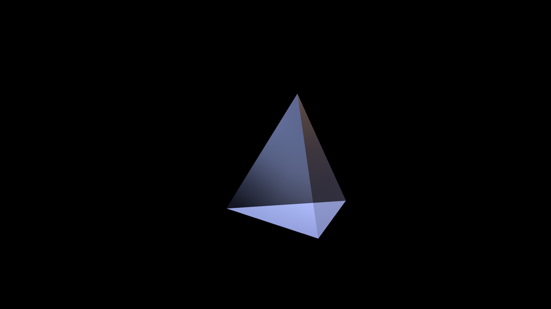 tetrahedron from 3D Text