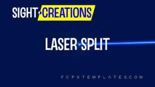 Laser Split Transition for Final Cut Pro