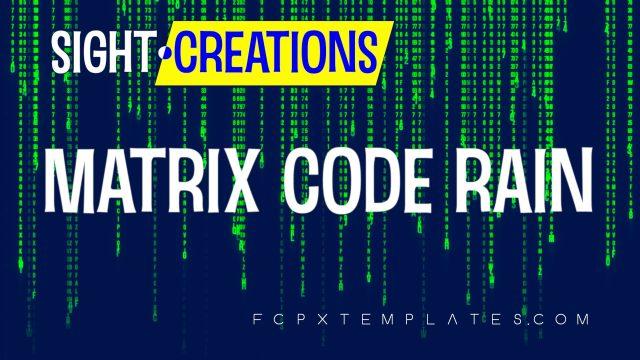 Matrix Code Rain Generator for FCPX