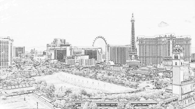 Nostalgia cityscape
